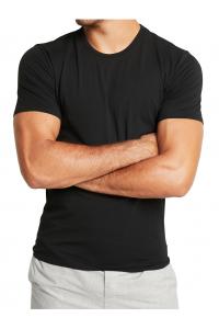 Calvin Klein Black O-Neck Białe Logo