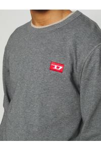 DIESEL Szara Klasyczna Bluza _ Haftowane Logo