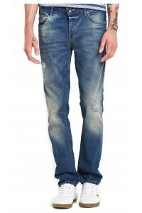 Only Sons Jeansy Blue Denim Przetarcia