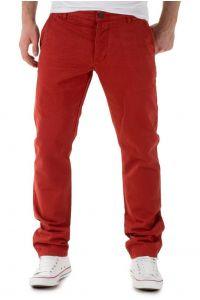 Jack Jones Chinosy Ceglasta Czerwień Regularny Krój Męskie