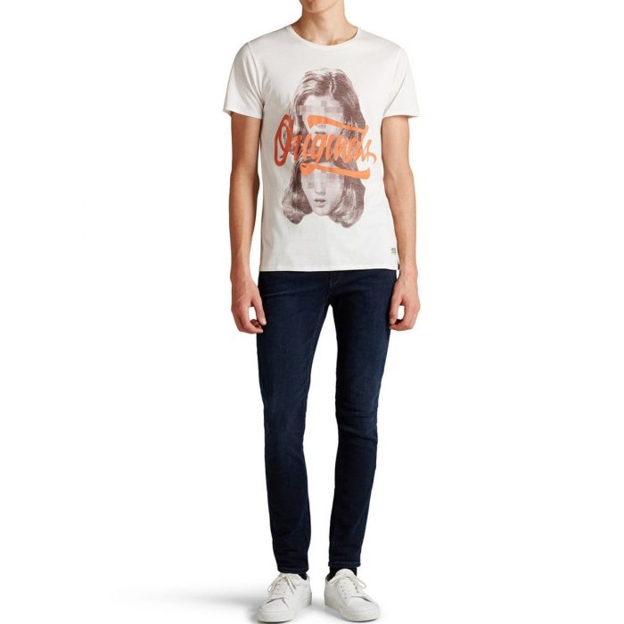 JACK & JONES KOSZULKA ABSTRACT KREMOWA