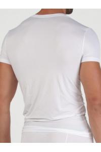 EMPORIO ARMANI Biała Koszulka V-neck klasyczna