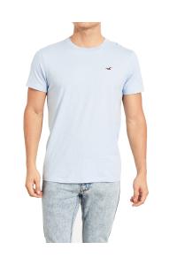 HOLLISTER California Light Blue Tshirt Jasny Niebieski O-Neck