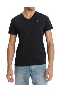 HOLLISTER California Black Tshirt Czarny V-Neck