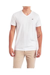 HOLLISTER California White Tshirt Biały V-Neck