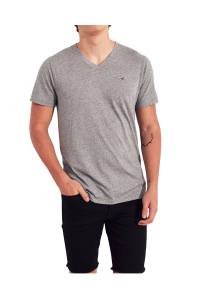 HOLLISTER California Grey Tshirt Szary V-Neck