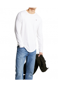 HOLLISTER California White Longsleeve Biały Klasyczny