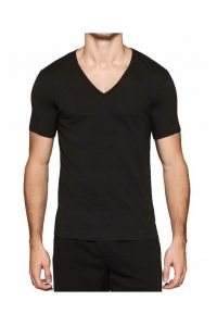 Calvin Klein Black V-Neck White Square