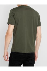 ARMANI EXCHANGE Zielona Koszulka O-neck klasyczna