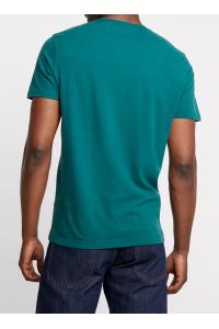 ABERCROMBIE&FITCH Zielona Koszulka Duże Białe Logo