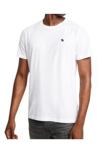 ABERCROMBIE&FITCH Biała Koszulka Małe Logo