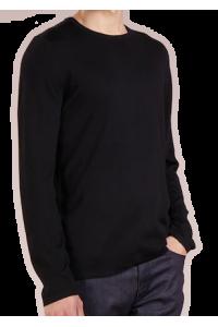 HUGO BOSS Klasyczny Czarny Sweter Męski