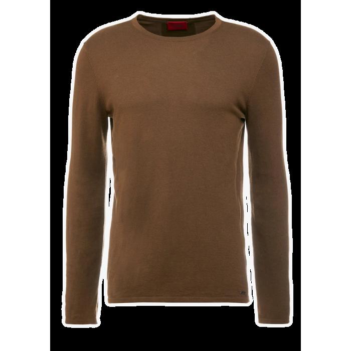 HUGO BOSS Klasyczny Brązowy Sweter Męski