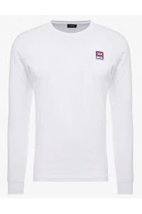 DIESEL Biały Klasyczny Longsleeve Wszyte Logo
