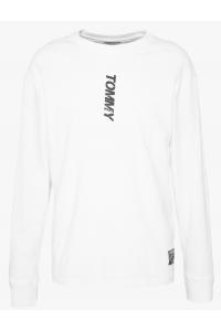 TOMMY JEANS Biały Longsleeve _ Logo Na Plecach