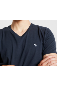 ABERCROMBIE FITCH Granatowy T-Shirt V-Neck