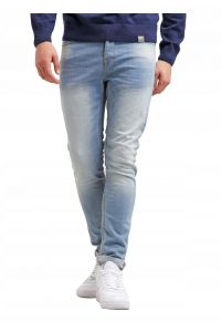 Only Sons Błętkitne Wygodne Jeansy slim fit