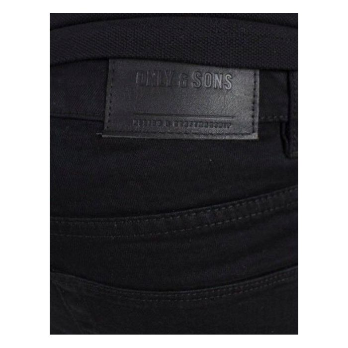 Only Sons Jeans przecięcia na kolanach Black