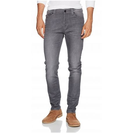 Only Sons Miękkie szare jeansy Slim Fit