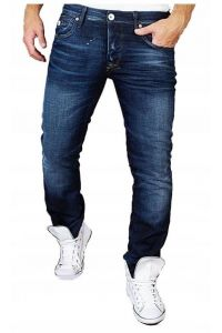 Jack & Jones Granatowe Jeansy Indigo Slim Fit