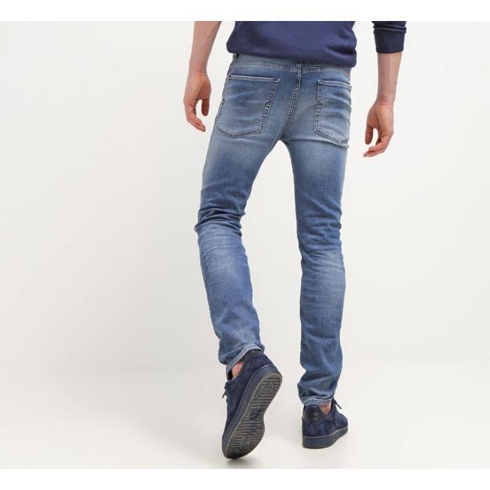 Selected Homme Niebieskie Elastyczne Jeansy Wygodne Slim Fit