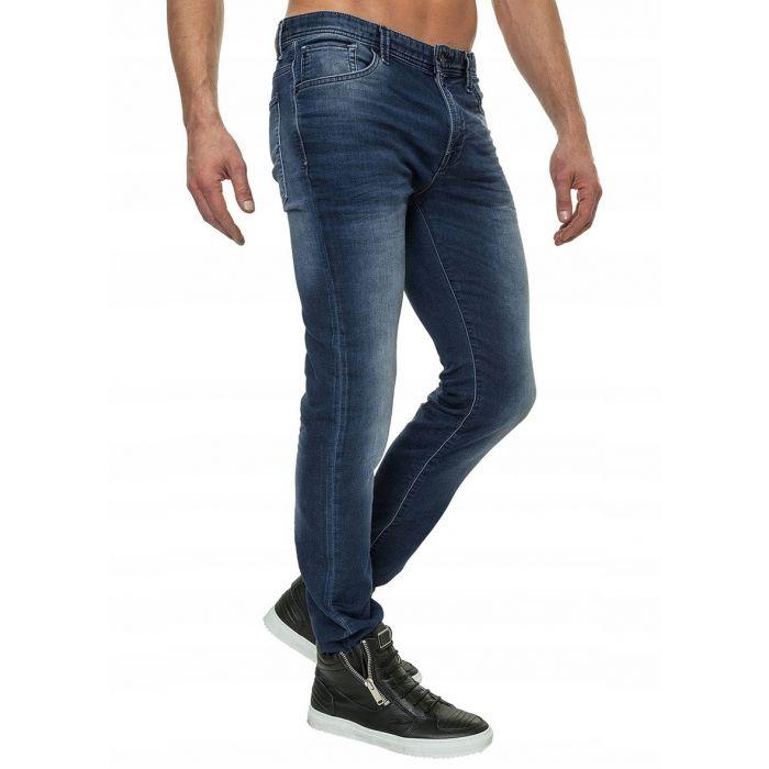Selected Homme Granatowe Elastyczne Jeansy wygodne Slim Fit
